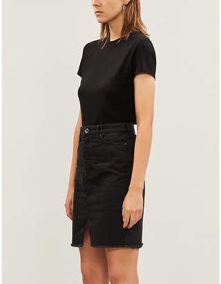 Armani Exchange Slim-fit high-waist denim skirt