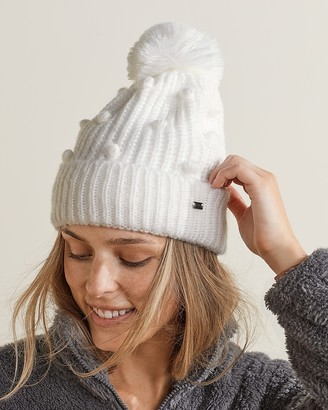 Express Upwest Snow Day Bobble Ribbed Beanie