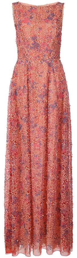 Carolina Herrera embroidered sleeveless gown