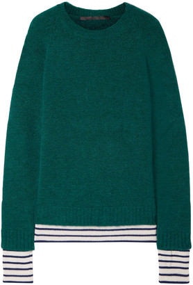 Haider Ackermann Layered Brushed Knitted Sweater