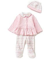 Little Me Baby Girls Newborn-9 Months 3-Piece Ribbon Roses Layette Set