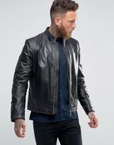 HUGO BOSS HUGO Hugo By Leather Biker Jacket
