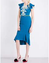 Peter Pilotto Lace-overlay crepe dress