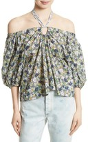 Rebecca Taylor Women's Suzette Off The Shoulder Floral Top