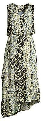 Parker Women's Pippin Floral Asymmetrical Midi Dress