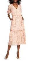 ALL IN FAVOR Ruffle Midi Dress