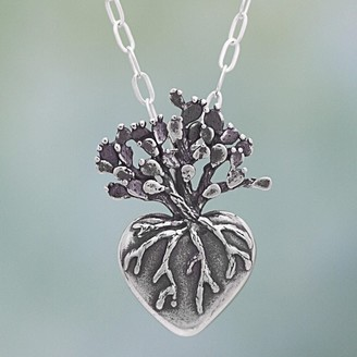 Novica Handmade Sterling Silver 'Root of Life' Necklace