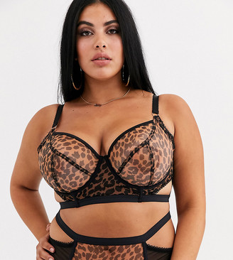 Playful Promises X Gabi Fresh cut out mesh bra in leopard