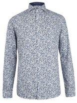Burton Mens Spitalfields Co Blue Floral Shirt with Liberty Fabric*