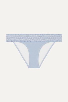 Heidi Klein Cassis Smocked Bikini Briefs - Light blue