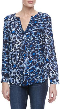Joie Don Leopard-Print Popover Blouse