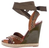 Saint Laurent Espadrille Wedge Sandals