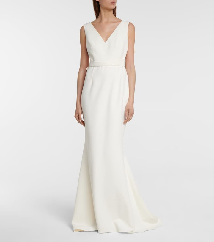 Thumbnail for your product : Safiyaa Bridal crepe fishtail gown