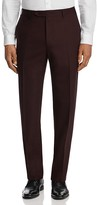 Canali Burg Stretch Mélange Classic Fit Trousers