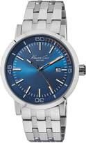 Kenneth Cole New York Men's 10020837 Slim Analog Display Japanese Quartz Silver Watch