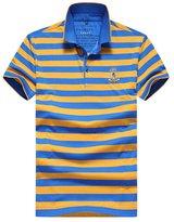 Aoiboxen's Short Sleeve Badge Striped Polo Shirt