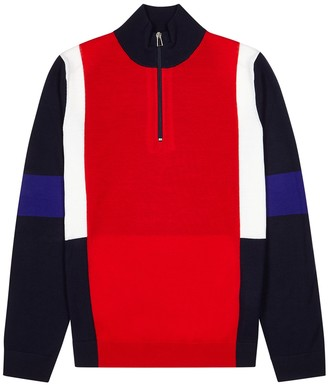 Paul Smith Colour-blocked wool jumper