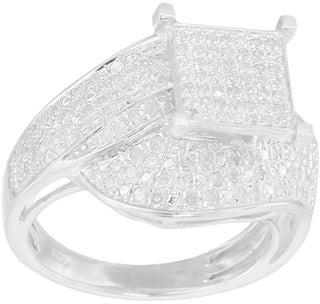 Kc Jewelry Sterling Silver 3/4ct TDW Diamond Square Setting Ring