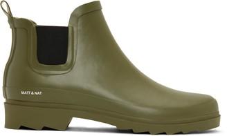 Matt & Nat Lane Waterproof Rain Boot Olive - Green / 3