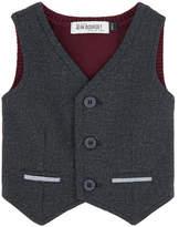 Jean Bourget Bi-material sleeveless jacket