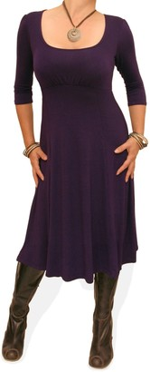 Blue Banana Women's A Line Shift Dress Purple Size 10