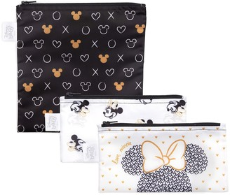 Bumkins Disney's Minnie Mouse 3-Pack Love, Minnie Reusable Snack Bags