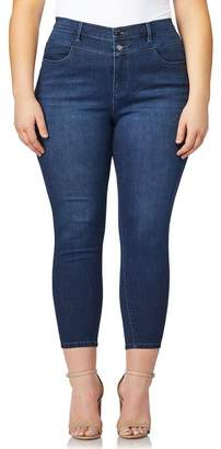 Curve Appeal Premium Push-Up Cropped Jeans (Plus Size)