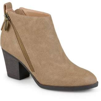 Brinley Co. Women's High Heeled Zippered Chunky Heel Ankle Booties