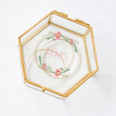Cathy's Concepts CATHYS CONCEPTS Personalized Floral Gold Glass Keepsake Box