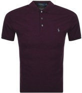 Ralph Lauren Slim Fit Polo T Shirt Burgundy