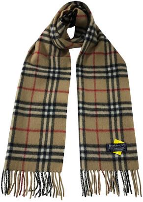 Burberry Brown Wool Scarves