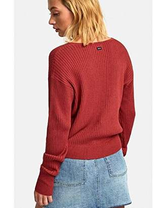 RVCA Junior's Pointed Cross Front Sweater