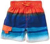First Wave Little Boys 2T-7 Watercolor Striped Swim Trunks