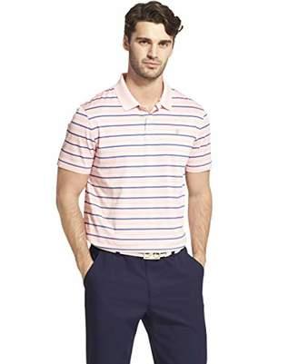 Izod Men's Golf Clubhouse Short Sleeve Stripe Polo Shirt