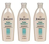Jergens Daily Moisture Lotion for Dry skin Hydrates and Smoothes - 10 Ounce, (3 Pack) + FREE Scunci Effortless Beauty Black Clips, 15 Count