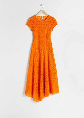 And other stories Flower Lace Midi Dress