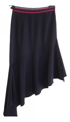 Milly Blue Wool Skirt for Women