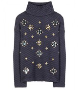 Tory Burch Wendy embroidered turtleneck