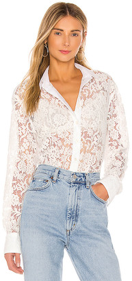 ATM Anthony Thomas Melillo Cotton Lace Straight Shirt