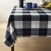 "Crate & Barrel Jameson Black & White Plaid 60""x90"" Tablecloth"