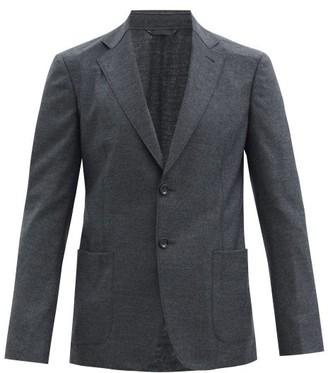Giorgio Armani Single-breasted Wool-blend Twill Blazer - Grey