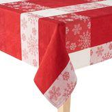 St. Nicholas Square® Red Snowflake Tablecloth