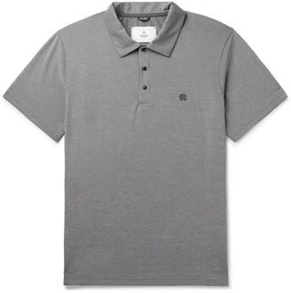 Reigning Champ Logo-Print Polartec Delta Pique Polo Shirt