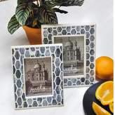 Mela Artisans Gramercy Frame 4x6 in Grey & White