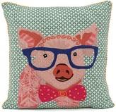 Karma Living Intellectual Pig Cushion - 18 x 18 - Pink