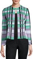 Ming Wang Plaid Knit Jacket, Multi