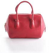 Nina Ricci Red Leather Gold Tone Smalle Rouge Youkali Satchel Handbag 90059586