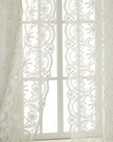 "Horchow Each 52""W x 96""L Chantilly Lace Curtain"