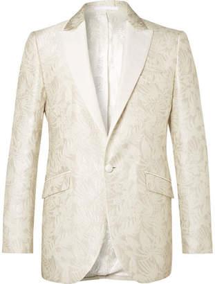 Favourbrook Ivory Floral Silk-Jacquard Blazer