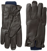 Scotch & Soda Double Layer Gloves in Leather and Wool Quality